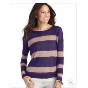 Loft two-toned purple striped sweater